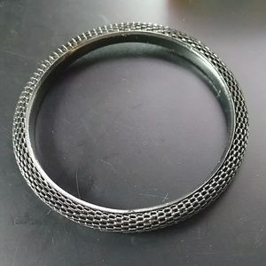 🔥5/$15 black metal mesh bangle bracelet